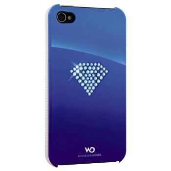 Чехол (клип-кейс) HAMA White Diamonds Rainbow H-115384, для Apple iPhone 4/4S, синий [00115384]