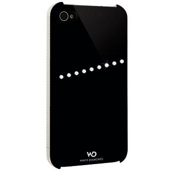 Чехол (клип-кейс) HAMA White Diamonds Sash H-115392, для Apple iPhone 4/4S, прозрачный [00115392]