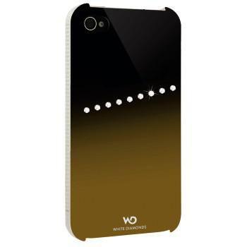 Чехол (клип-кейс) HAMA White Diamonds Sash H-115395, для Apple iPhone 4/4S, золотистый [00115395]