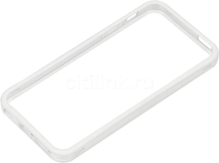 Бампер HAMA EdgeProtect, для Apple iPhone 5/5s/SE, белый (прозрачный) [00118813]