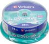 Оптический диск DVD-RW VERBATIM 4.7Гб 4x, 25шт., cake box [43639] вид 1