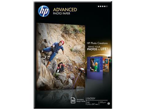 Фотобумага HP Q8698A А4/250г/м2/50л Глянцевая