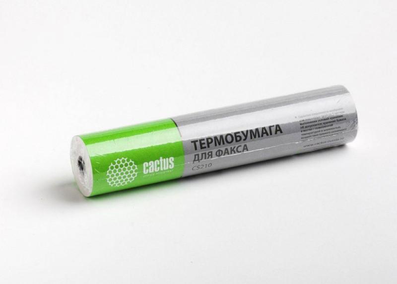 Термобумага Cactus CS210 210мм-30м/белый для факса