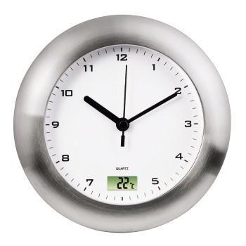 Настенные часы HAMA Bathroom H-113914, аналоговые,  серебристый