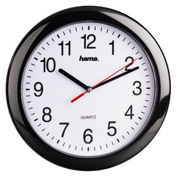 Настенные часы HAMA PP-250 H-113920, аналоговые,  черный
