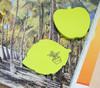"""Блок самоклеящийся бумажный Stick`n 21180 70x70мм 50лист. 70г/м2 неон зеленый вырубной """"листок"""" евро вид 4"""