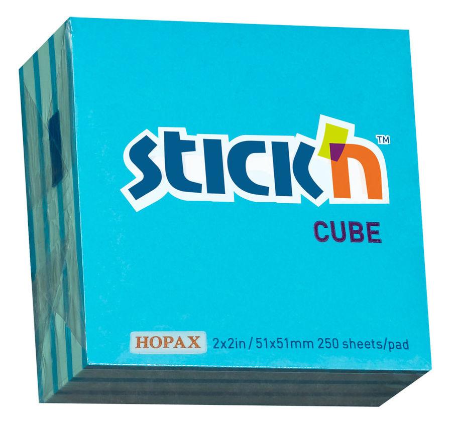 Блок самоклеящийся бумажный Stick`n 21337 51x51мм 250лист. 70г/м2 неон+пастель 2цв.в упак.