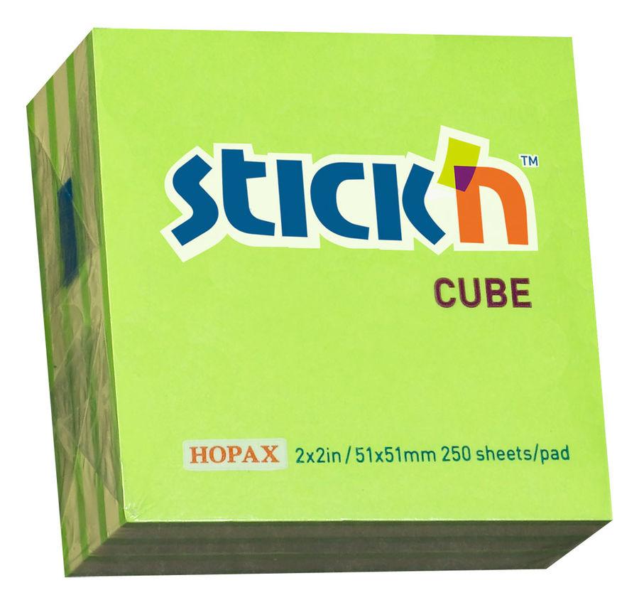 Блок самоклеящийся бумажный Stick`n 21339 51x51мм 250лист. 70г/м2 неон+пастель 2цв.в упак.