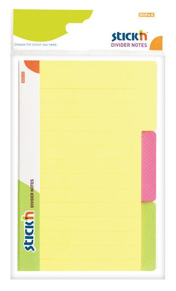 """Блок самоклеящийся бумажный Stick`n Magic 21461 98x148мм 60лист. 70г/м2 неон 3цв.в упак. вырубной """"р"""