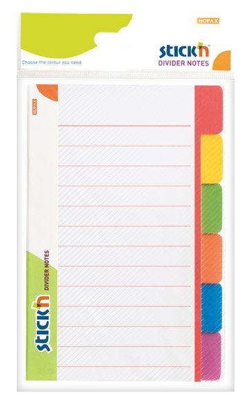Блок самоклеящийся бумажный Stick`n Magic 21462 98x148мм 60лист. 70г/м2 6цв.в упак. в линейку вырубн
