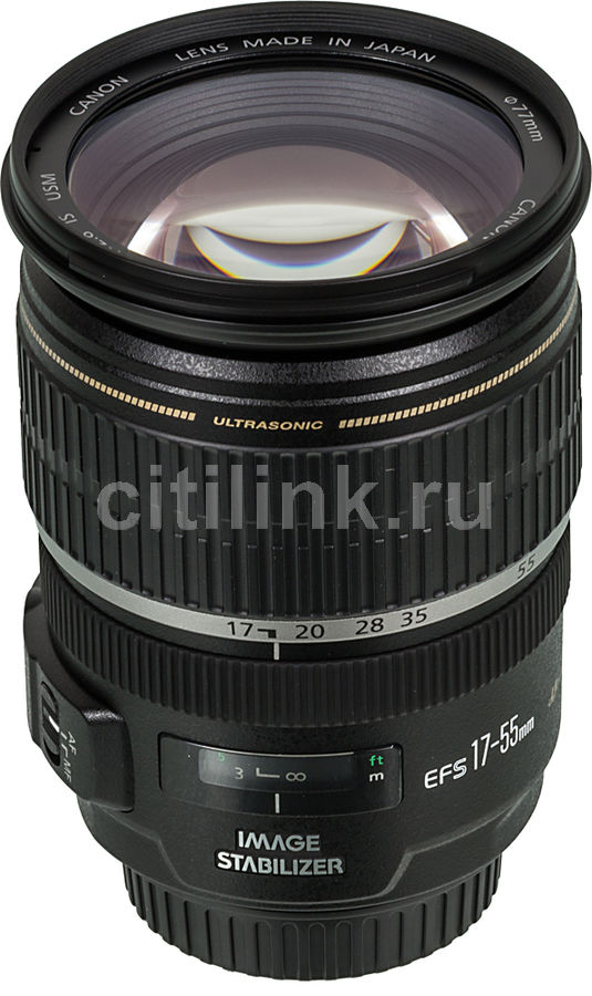 Объектив CANON 17-55mm f/2.8 EF-S IS USM, Canon EF-S [1242b005] клавиатура dell kb522 wired business multimedia keyboard black usb 580 17683