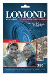Фотобумага Lomond 1104205 A5/280г/м2/20л./белый сатин для струйной печати