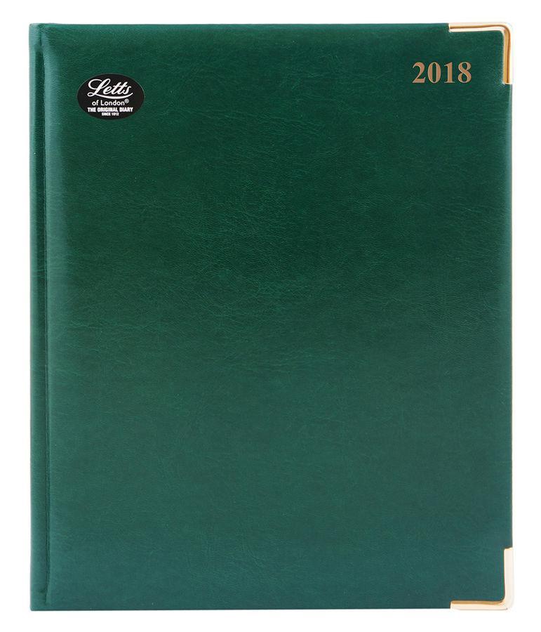 Еженедельник LETTS LEXICON,  A4,  белые страницы,  кожа искусственная,  зеленый,  1 шт