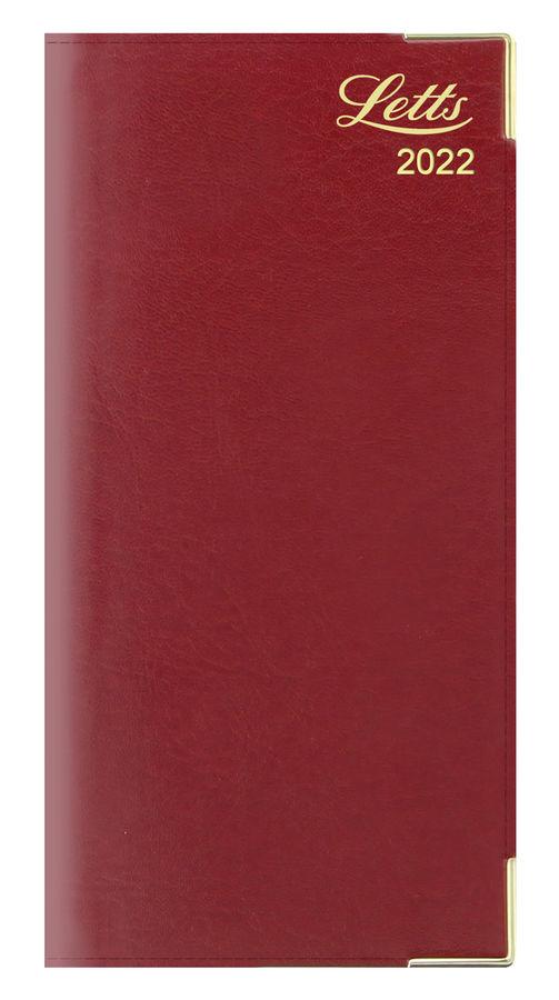 Еженедельник LETTS LEXICON (PU),  A6,  белые страницы,  кожа искусственная,  бургунди,  1 шт