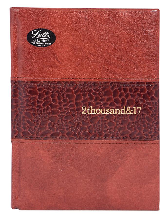 Ежедневник LETTS MANHATTAN,  A5,  кремовые страницы,  кожа искусственная,  коричневый,  1 шт