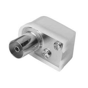 Штекер антенный HAMA 00042848,  Coax (f)  -  белый