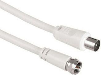 Кабель антенный HAMA H-42976,  Coax (m)  -  F-TV(m) ,  1.5м, белый [00042976]