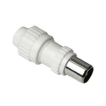 Штекер антенный HAMA H-43943,  Coax (m)  -  белый [00043943]