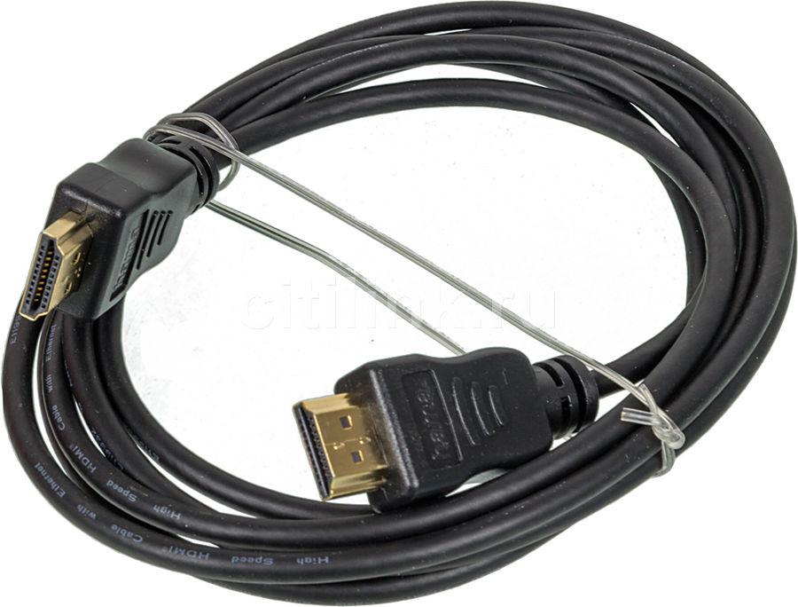 Кабель аудио-видео HAMA H-78412,  HDMI (m)  -  HDMI (m) ,  ver 1.3, 1.8м, GOLD черный [00078412]