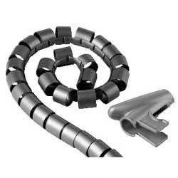 Кабель-органайзер HAMA H-20601 1.5м, 1 шт,  серебристый