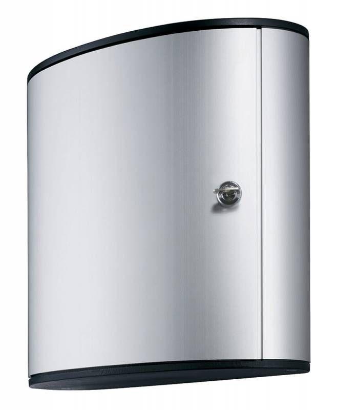 Шкафчик для ключей Durable 1952-23 на 36ключ. 302x280x118мм комппл.6 брелков серебристый алюминий
