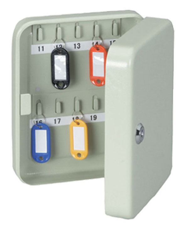 Шкафчик для ключей Hebel Maul 5642082 на 20ключ. 252x185x83мм комппл.20 брелков серый
