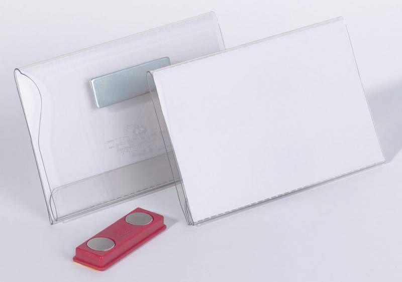 Бейдж Durable 8117-19 54х90мм горизонт. магнитный ПВХ прозрачный (упак.:25шт)