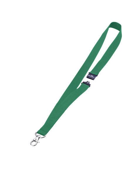 Шнур для бейджа Durable 8137-05 44х2см карабин+боковой замок шнур:зеленый текстильный (упак.:10шт)