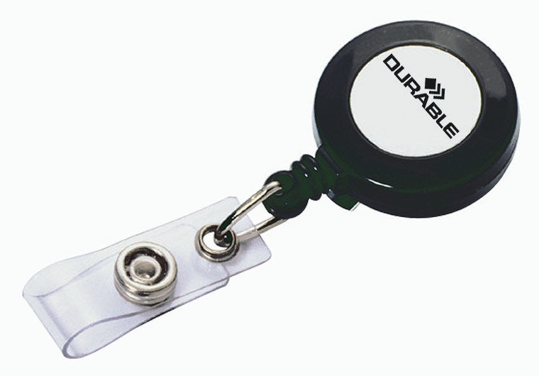 Рулетка для бейджа Durable 8152-58 80см серый (упак.:10шт)