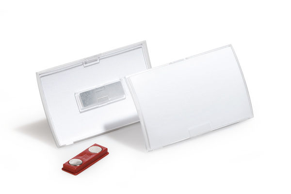 Бейдж Durable 8215-19 Click Fold 54х90мм магнитный полипропилен прозрачный (упак.:10шт)