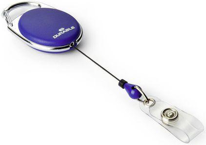 Рулетка для бейджа Durable 8324-07 80см карабин овальный синий (упак.:10шт)