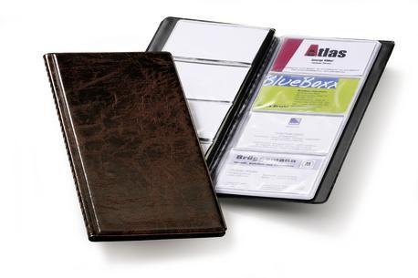 Визитница DURABLE Visifix 2380-11 переносная,  для 96 визиток,  коричневый