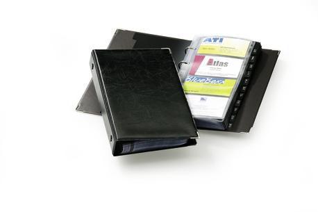 Визитница DURABLE Visifix200 переносная,  для 200 визиток,  черный [2383-01]