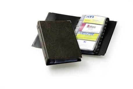 Визитница DURABLE Visifix200 переносная,  для 200 визиток,  коричневый [2383-11]