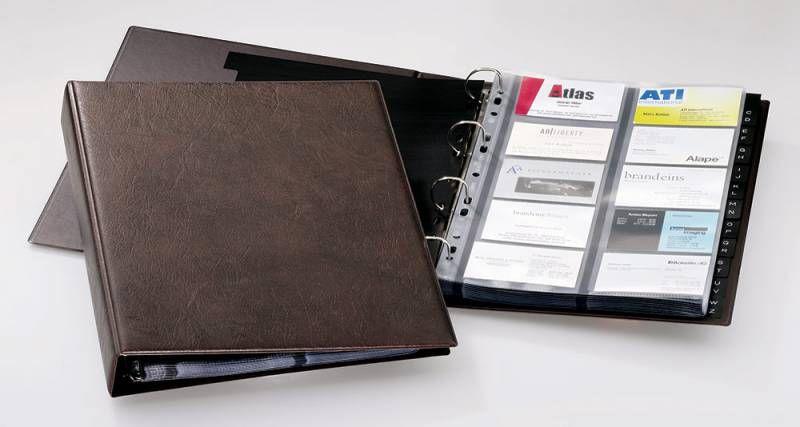 Визитница DURABLE Visifix 2384-11 A4 переносная,  для 400 визиток,  коричневый