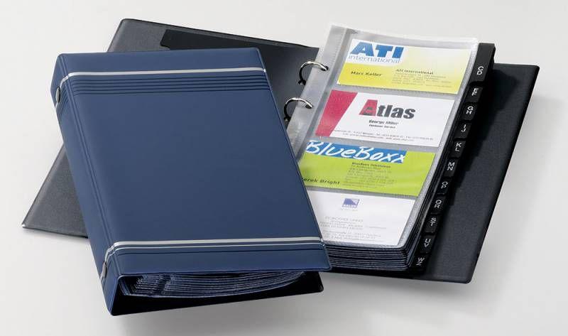 Визитница DURABLE Visifix 2385-07 переносная,  для 200 визиток,  синий