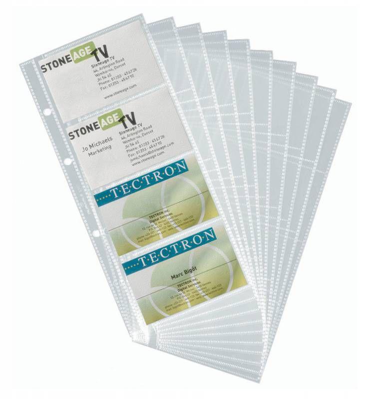 Набор вкладышей DURABLE для 80 визиток,  10шт,  прозрачный [2387-19]