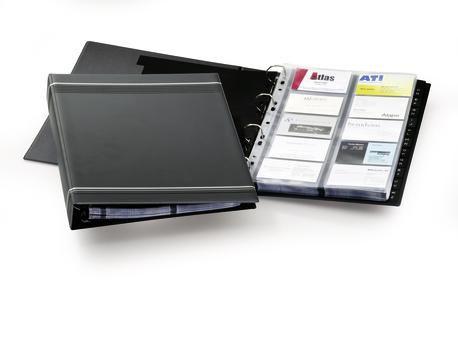 Визитница Durable Visifix centium на 200 карт черный 240301