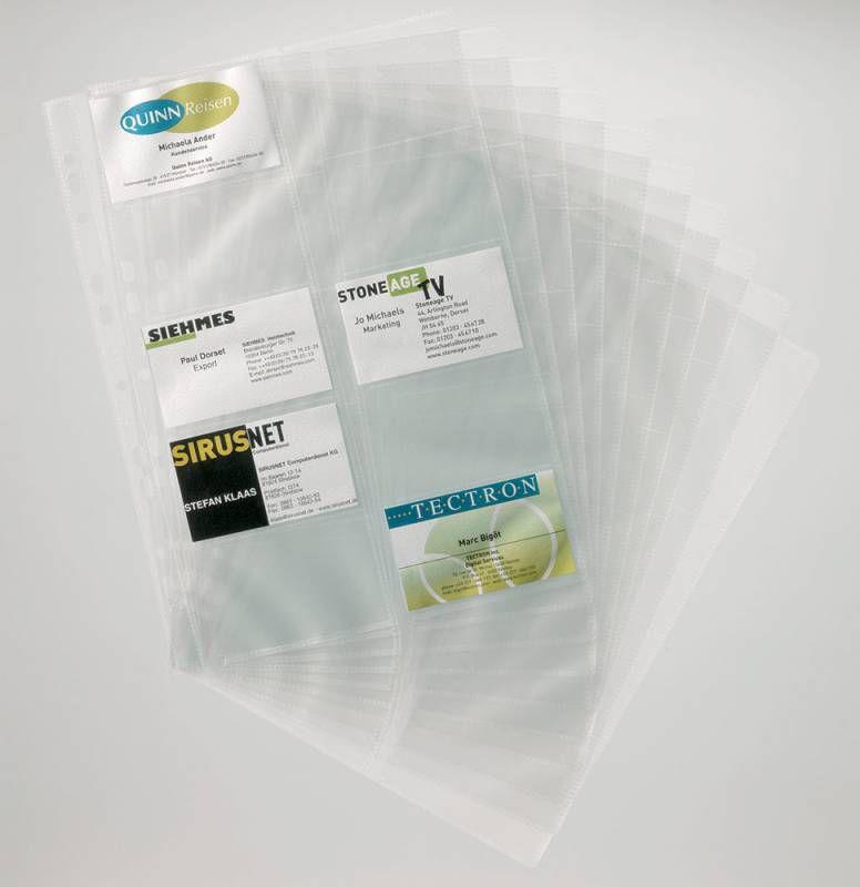 Набор вкладышей DURABLE для 200 визиток,  10шт,  прозрачный [2389-19]