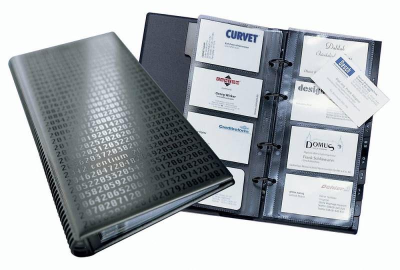 Визитница DURABLE Visifix 2403-01 переносная,  для 200 визиток,  черный