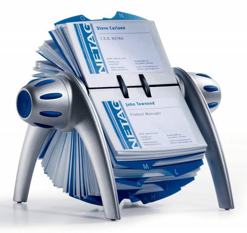Визитница DURABLE Visifix 2417-23 настольная, вращающаяся,  для 400 визиток,  серебристый