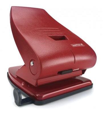 Дырокол Rapesco PF835PR2 мощный 835-P до 40 листов выдвижная линейка красный