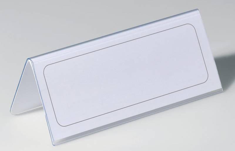 Информационная табличка DURABLE настольная,  прямоугольная,  150х63 мм,  прозрачный [805019]