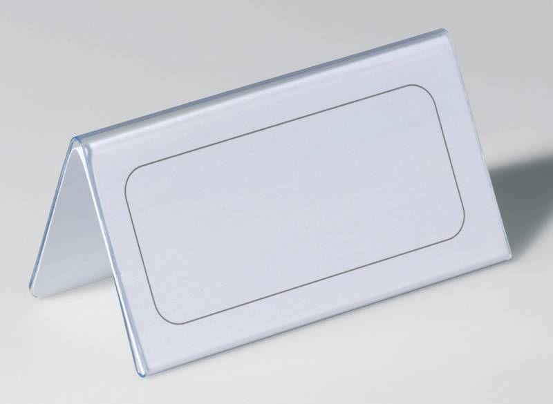 Информационная табличка DURABLE 8051-19,  настольная,  квадратная,  100х52 мм,  прозрачный