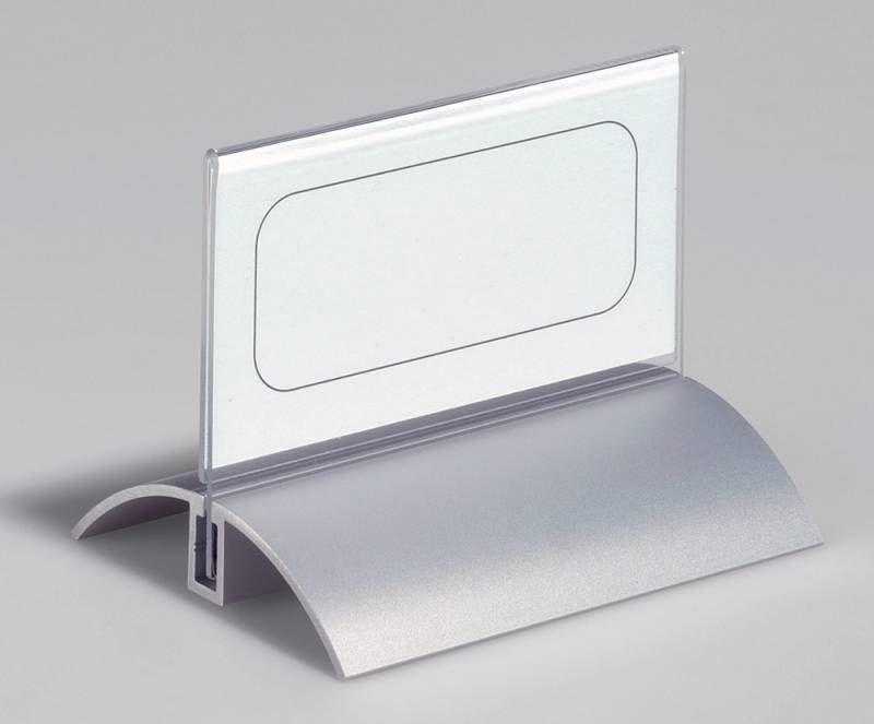 Информационная табличка DURABLE De Luxe настольная,  прямоугольная,  100х52 мм,  прозрачный [8200-19]