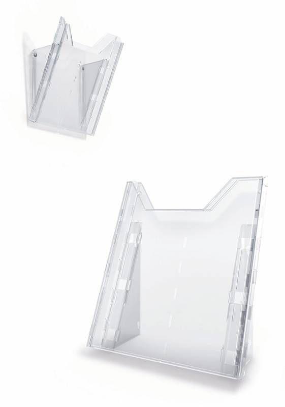 Информационная стойка DURABLE Combiboxx 8578-19,  настенная/настольная,  прямоугольная,  A4,  210х311 мм,  прозрачный