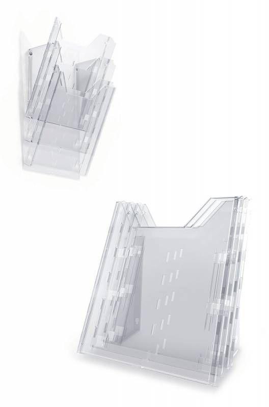 Информационная стойка DURABLE Combiboxx настенная/настольная,  квадратная,  A4,  240х311 мм,  прозрачный [858019]