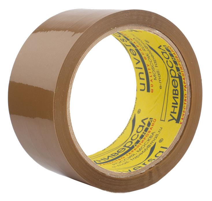 Клейкая лента упаковочная Unibob UNIVERSAL 29227 коричневая шир.48мм дл.45м 40мкр поштучная упаковка