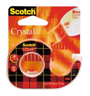 Диспенсер для клейкой ленты 3M Scotch 6-1975D 7000038137 кристально-прозрачная шир.19мм дл.7.5м