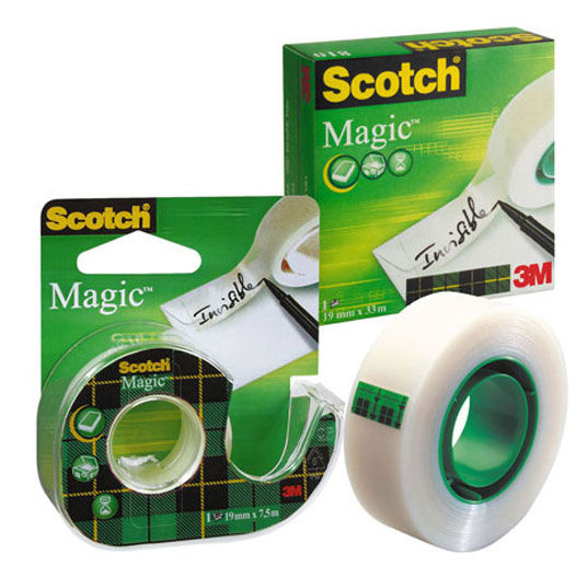 Клейкая лента канцелярская 3M Scotch Magic 810 7100029434 прозрачная шир.19мм дл.33м невидимаяКлейкая лента<br>ширина: 19мм; длина: 33м<br>